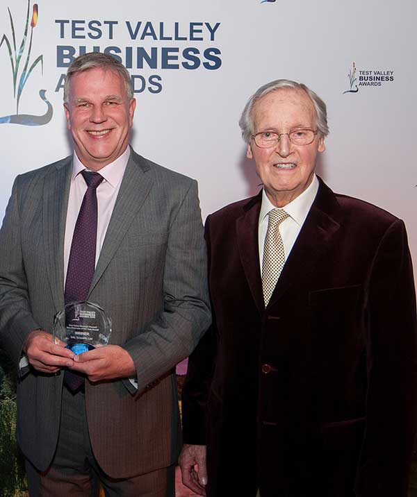 Photograph of Sal Scientific with business of the year award